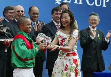 Jockey for Team Valor collects hardware in Hong Kong