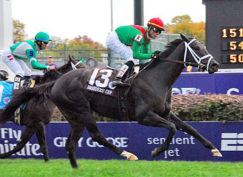 Pluck winning the Breeders' Cup