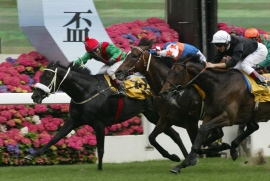 Irridescence defeats Ouija Board in Hong Kong Grade 1
